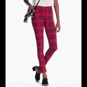 SANCTUARY Janis Plaid Slim Ponte Pant / Leggings M